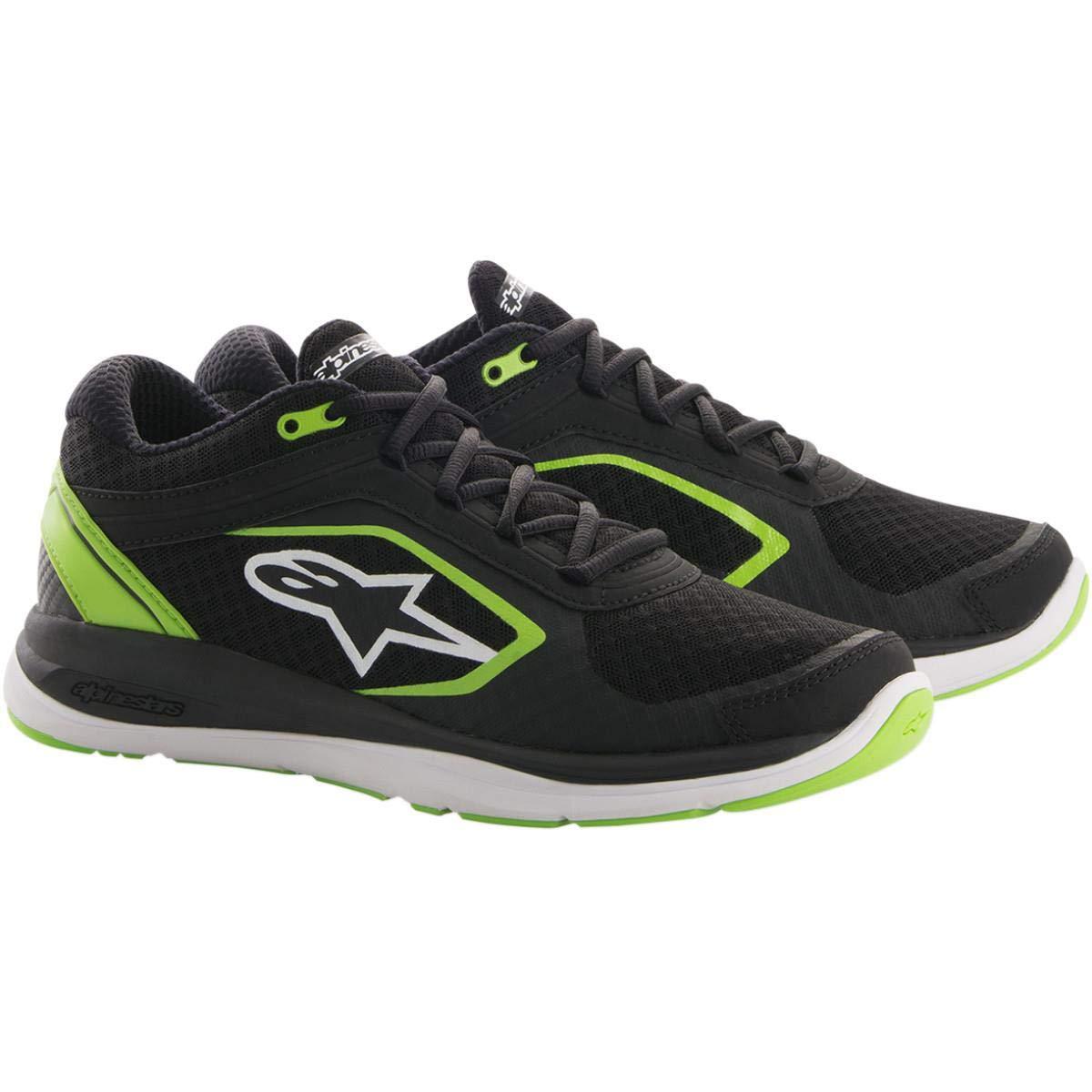 Alpinestars合金スポーツカジュアル靴ブラック/グリーンメンズサイズ12 B076HDQB12