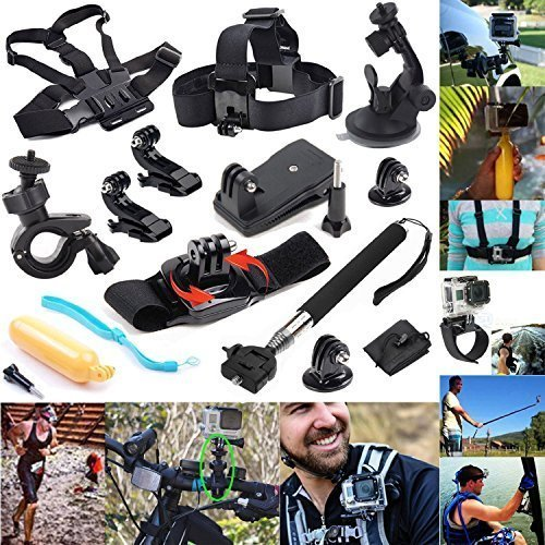 12-In-1 Outdoor Sports Essentials Kit for GoPro Hero 4 Silver Black - 1