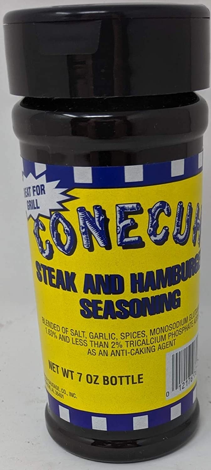 Conecuh Steak and Hamburger Seasoning - 7 Oz Bottle, Makers of Conecuh Sausage