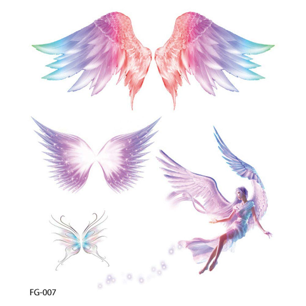 Feather Temporary Tattoos for Kids Realistic 3D Flowers Tattoos Stickers Removable Waterproof Body Art Arm Fake Tattoos Men Women Party Favors (H)