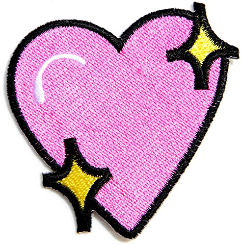 Pink Heart Valentine Day Kid Baby Jacket T-shirt Patch Sew Iron on Embroidered Sign Badge Costume Clothing BY - Soul 9 Sunglasses