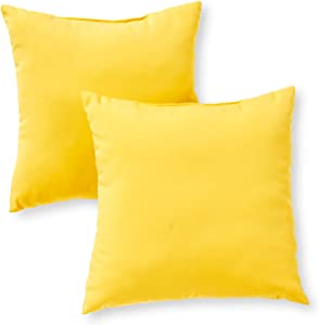 Greendale Home Fashions Set of 2 Outdoor 17-inch Square Throw Pillows, Sunburst