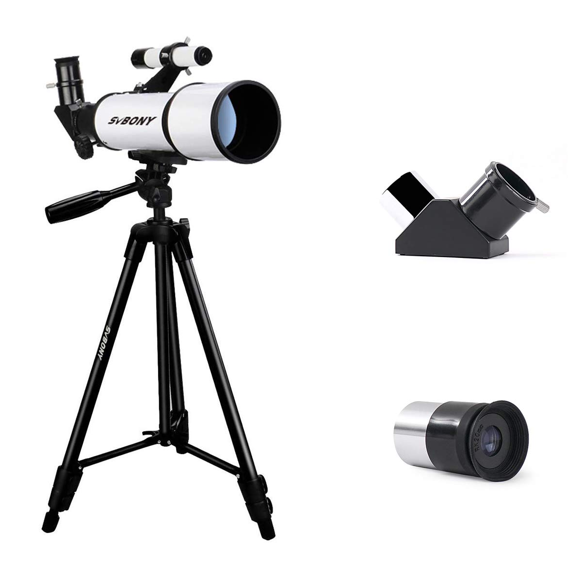 SVBONY SV501 Telescope Travel Scope 70mm FMC Astronomical Refractor Telescope for Adults Beginners Kids Portable Telescope with Adjustable Tripod and Finder Scope by SVBONY