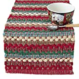Stripe Southwest Chindi Design Table Runner, 13x36 inches
