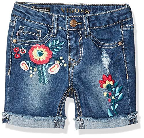 Flower Power Short - VIGOSS Girls' Toddler Bermuda Short, Flower Power Rewrkd Repaired, 5