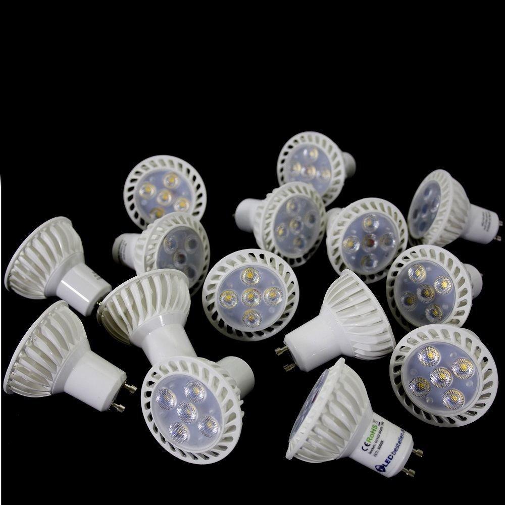 15 X GU10 5 W Bombilla LED 4000 K blanco Spot como 40 W, blanco neutral 5 W Lámpara Bombilla Foco empotrable 50 mm ahorra energía claro Luz de día Luz para ...