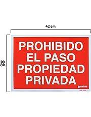 Wolfpack 15051252 Cartel Prohibido el Paso Propiedad Privada 30 X 42 cm