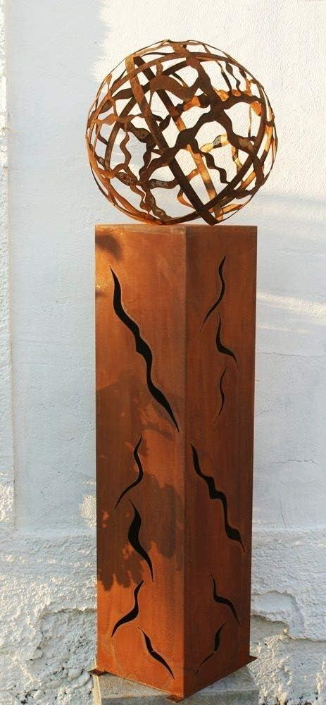 Gartendekoshop24 Wintersale Fackel 100 cm mit Muster Feuerkugel