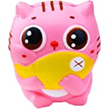 Xinzistar Kawaii Jumbo Slow Rising Squishies Cream Scented Squeeze Kid Toy Phone Charm Gift for Stress Relief