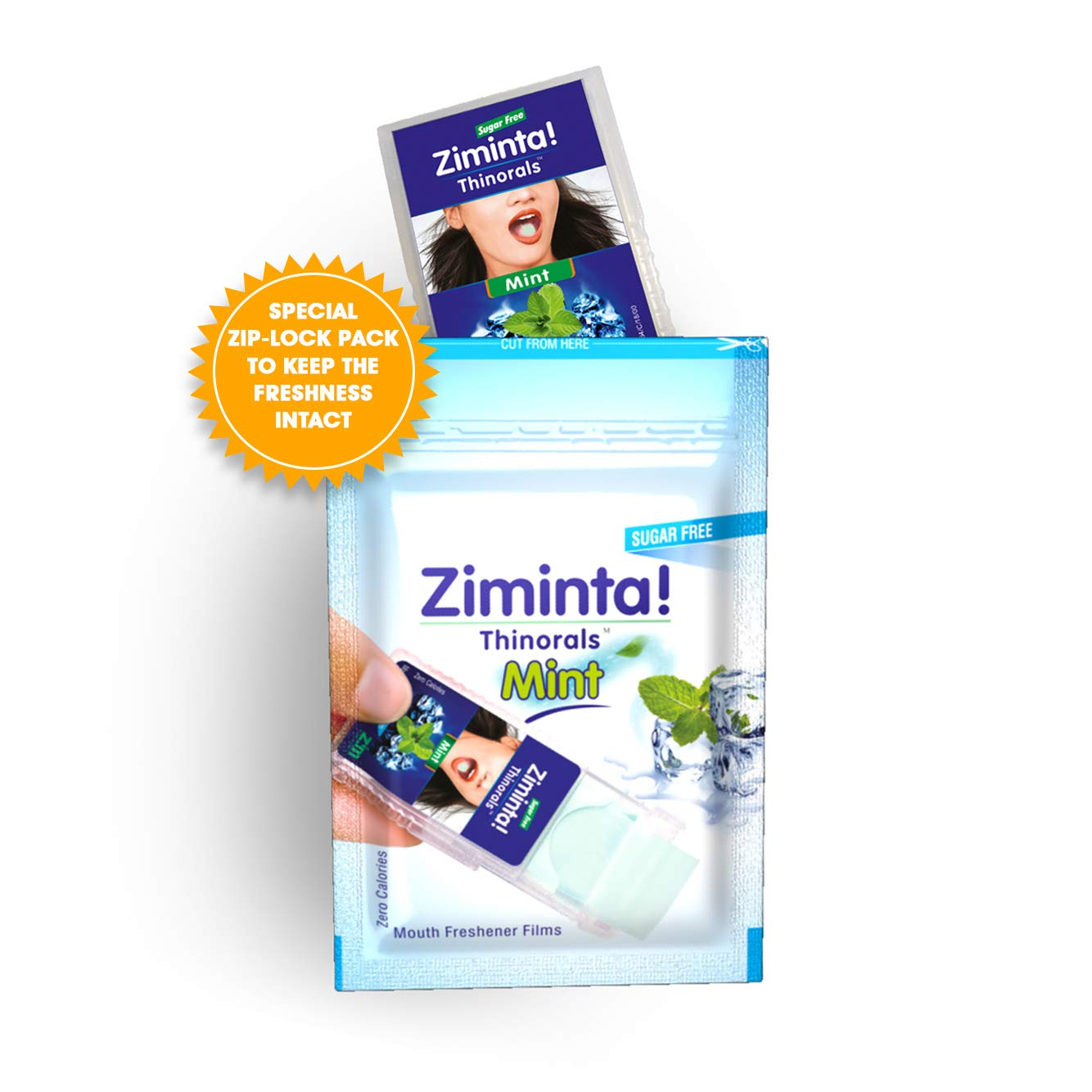 Ziminta Sugar Free Mint Mouth Freshener Easily Soluble Digestive  Dispensable Strip (30 Strips, Mint Flavour) - Pack of 1