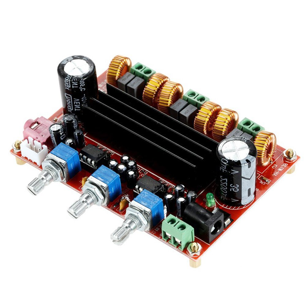 Amazon.com: 2.1 Channel TPA3116D2 Digital Amplifier Board, 2 50W +100W Subwoofer Power Audio Sereo AMP Module, DC 12~24V Stereo AMP Module for Car Home ...