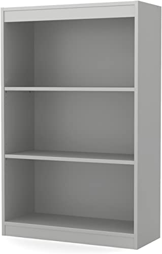 South Shore Axess 3-Shelf Bookcase-Soft Gray