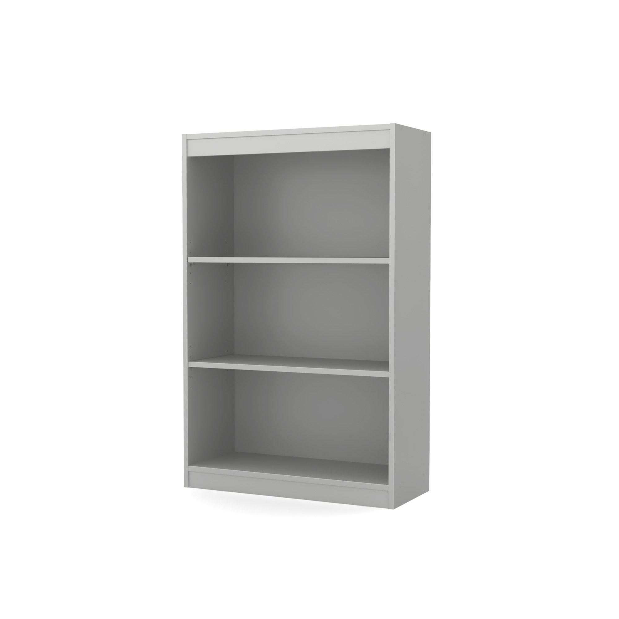 South Shore 3-Shelf Storage Bookcase, Soft Gray by South Shore