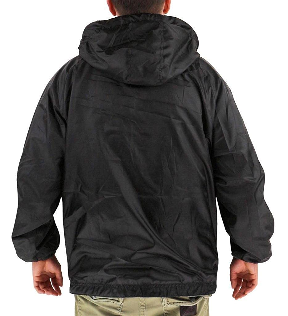 Maximos Mens Lax Security Reversible Water Resistant Jacket With Removable Hood