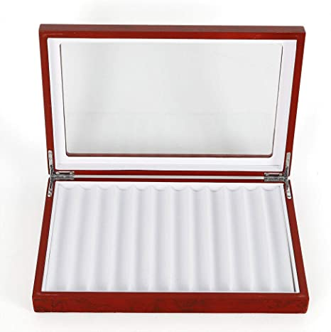Caja organizadora para 12 plumas estilográficas de madera, caja de almacenamiento para coleccionistas de Estados Unidos