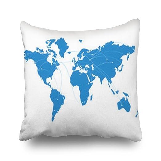 Agooda - Fundas de cojín personalizadas con diseño de mapa ...