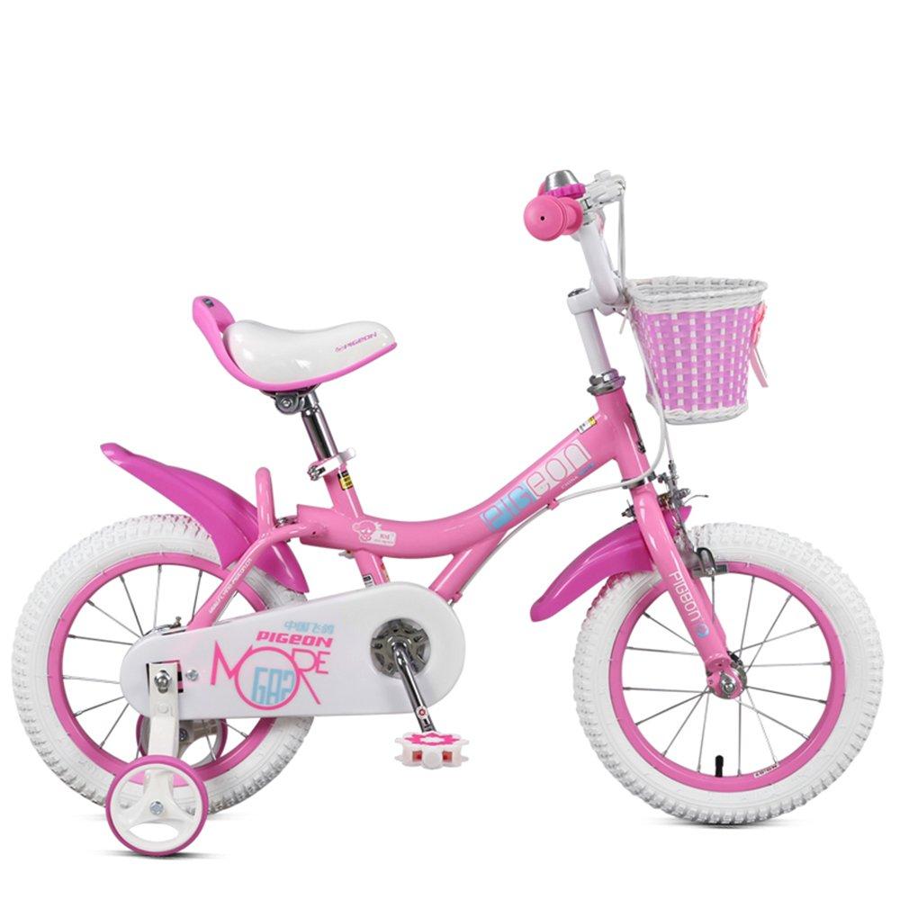 子供の自転車、女の子12/14/16/18インチの自転車、赤ちゃん2-6歳の子供のペダル ( 色 : ピンク ぴんく , サイズ さいず : 90センチメートル ) B078KNTSY5 90センチメートル|ピンク ぴんく ピンク ぴんく 90センチメートル
