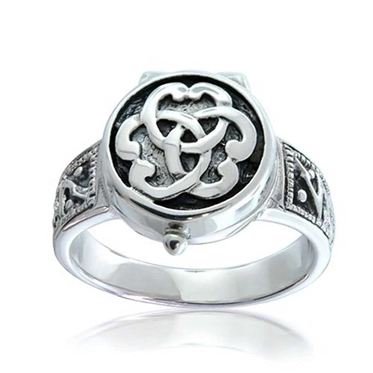 ring triquetra lockets poison sterling sstr sterlingsilver locket knot celticknot bling locketring jewelry silver celtic