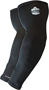 Cooling Arm Sleeves, Sized for Men &Women, UPF 50+ Sun Protection, Ergodyne Chill Its 6690,Black