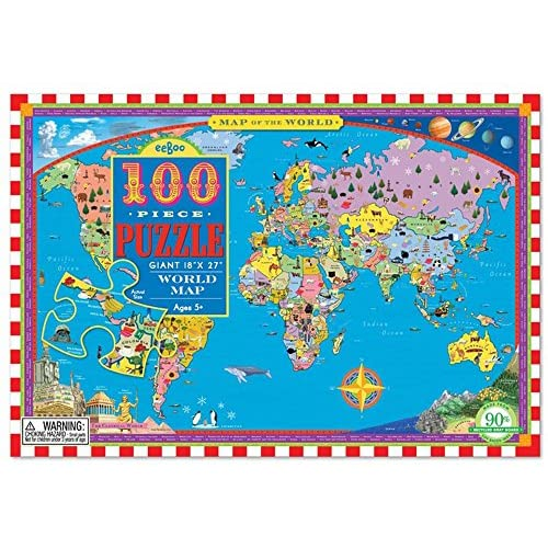 Eeboo world map puzzle for kids 100 pieces well wreapped eeboo world map puzzle for kids 100 pieces well wreapped gumiabroncs Choice Image