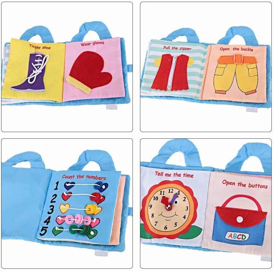 SANDIN beb/és ni?os y ni?as con sonidos arrugados Cloth Book Baby Gift Touch and Feel Fun Interactive Soft Book para beb/és lindo Baby Shower Box Premium Baby Book juguete de desarrollo Giraffe 19*19cm