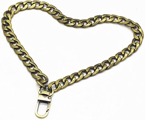 WEICHUAN 8 DIY Iron Flat Chain Silver Wrist Strap Wrist Chain Purse Straps Handbag Chains Accessories