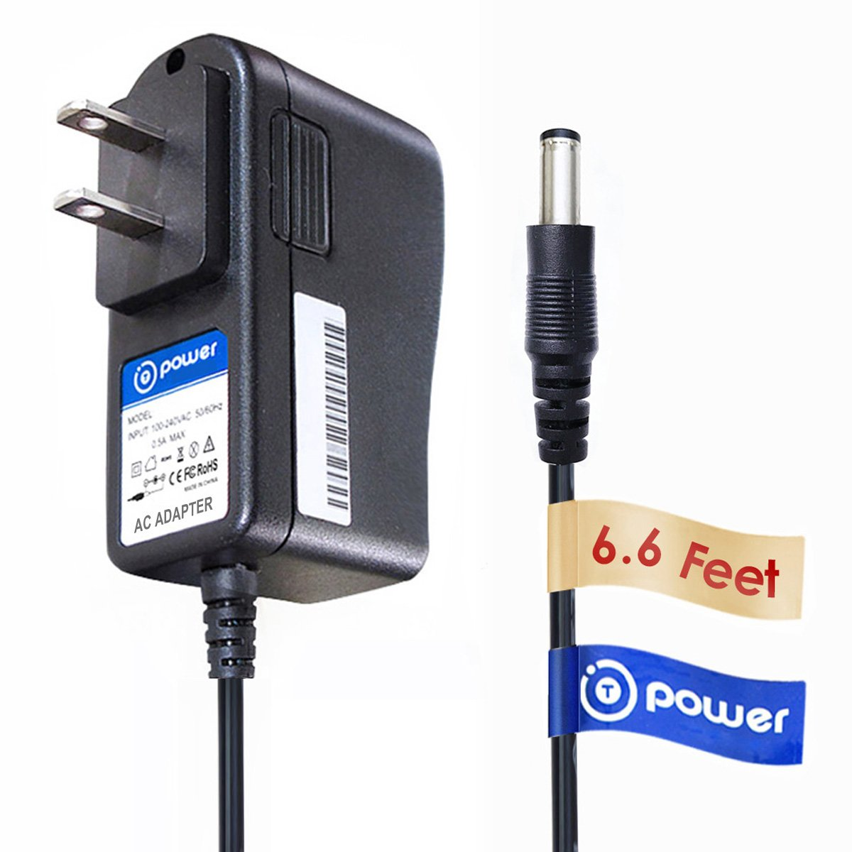 T-Power Ac Adapter Charger for Vtech Safe /& Sound VM301 VM321 BU VM321-2 BU VM321-2 BU VM321BU VM321PU Video Baby Monitor and Camera 6.6 ft Note: We provide Smart connector plug tips Baby /& Parent Unit Replacement Switching Power Supply Cord Charger