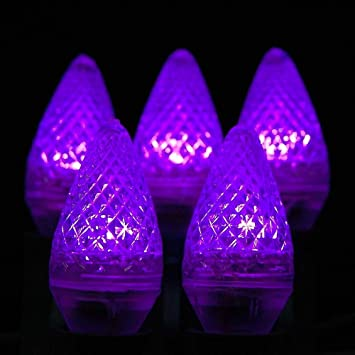 novelty lights 25 pack c7 led outdoor string light christmas replacement bulbs purplec7