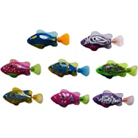 FUNCOCO 4 Pcs Swimming Robot Fish Activated in Water Electronic Mini Robotic for Kids