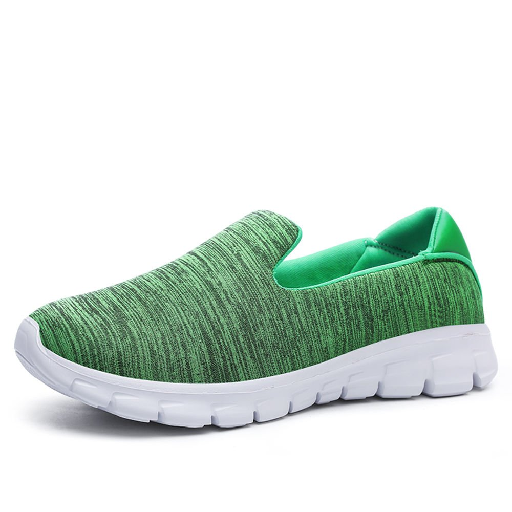 uruoi New Year Gift Women's Leisure Mesh Breathable Fashionable Flat Shoes Running Shoes 9.5 B(M) US Green 42