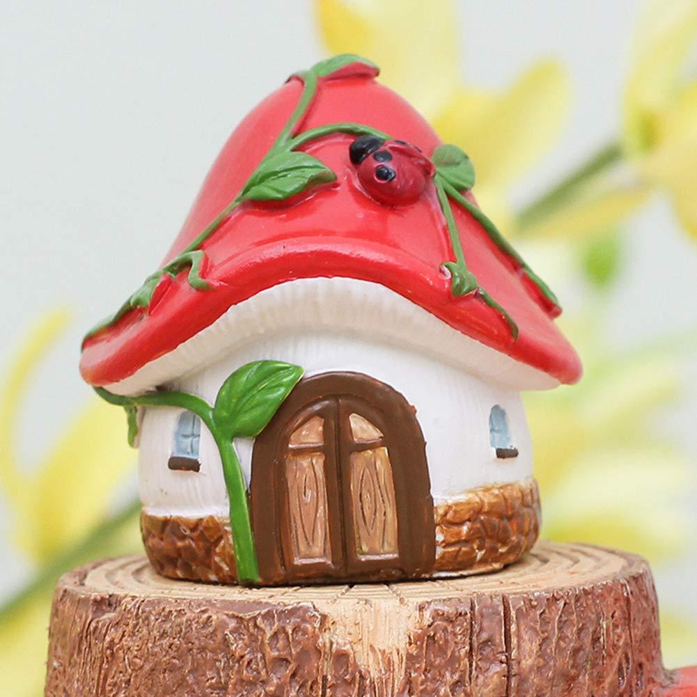 Pine Cones miniature fatine mini casa giardino decorazione statuette in resina micro paesaggio fai da te Taglia libera