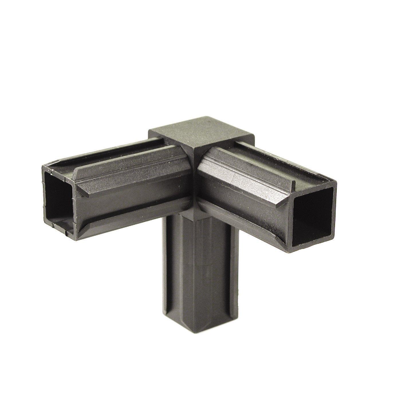 GAH-Alberts 426347 XD-Rohrverbinder - 90° und einem weiteren rechtwinkeligen Abgang, Kunststoff, schwarz, 20 x 20 x 1,5 mm / 10 Stück Gust. Alberts GmbH & Co.KG 255133