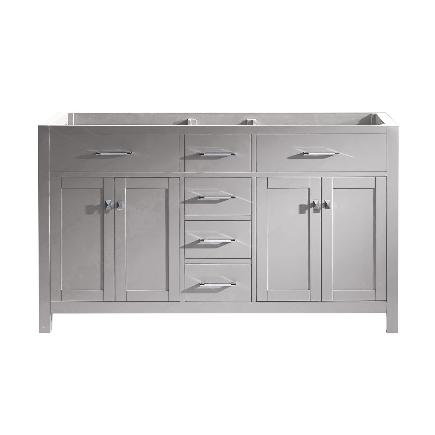 Virtu USA MD-2060-Cab-CG Caroline Cabinet, 60'', Cashmere Grey by Virtu USA