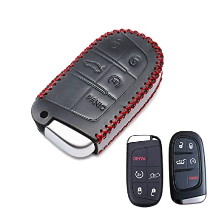 Jeep Grand Cherokee Key >> Smart Key Fob Cover Case Leather Protector Keyless Jacket Remote Holder For Jeep Grand Cherokee Dodge Challenger Charger Dart Durango Journey Chrysler