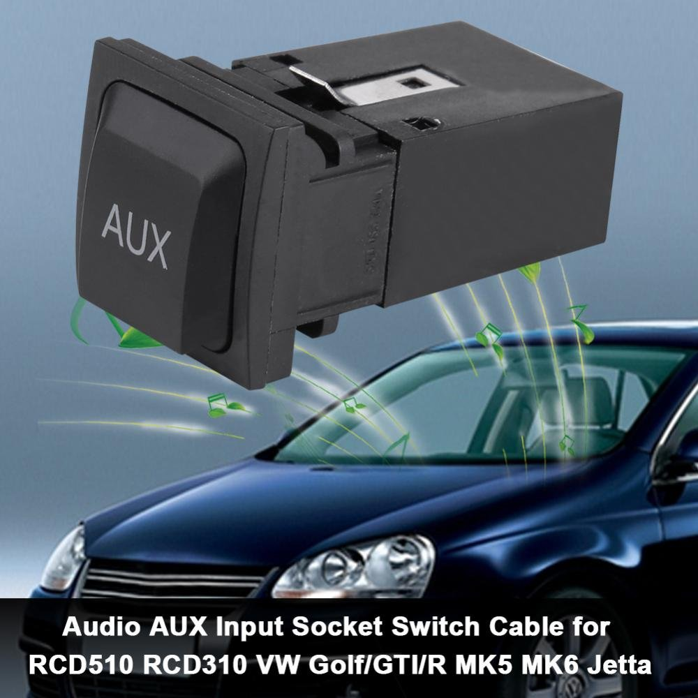 Car USB Audio AUX Input Socket Switch Cable for VW: Amazon