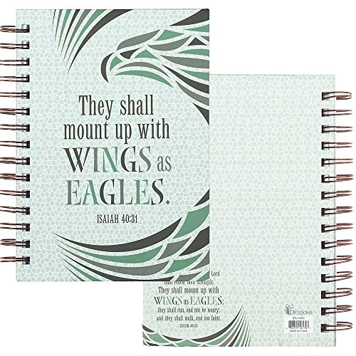 Mount with Wings as Eagles Mosaic 6 x 8 Inch Lined Spiral Bound - Mosaic Journal