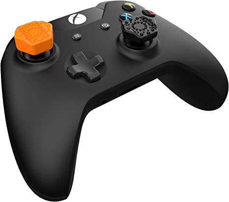 Pro-Hex Thumb Grips - Xbox One - 2 Orange / 2 Black Pack: Amazon ...