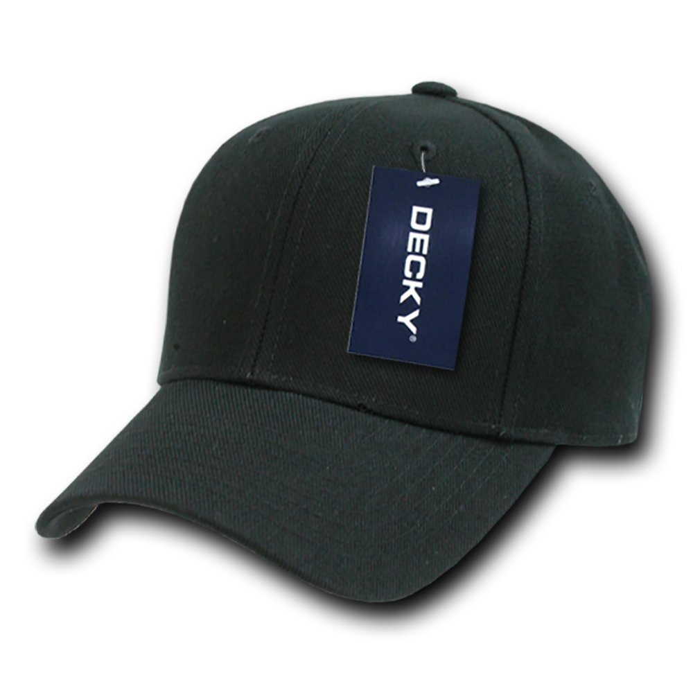 DECKY Fitted Cap, Black, 7 1/8 by DECKY