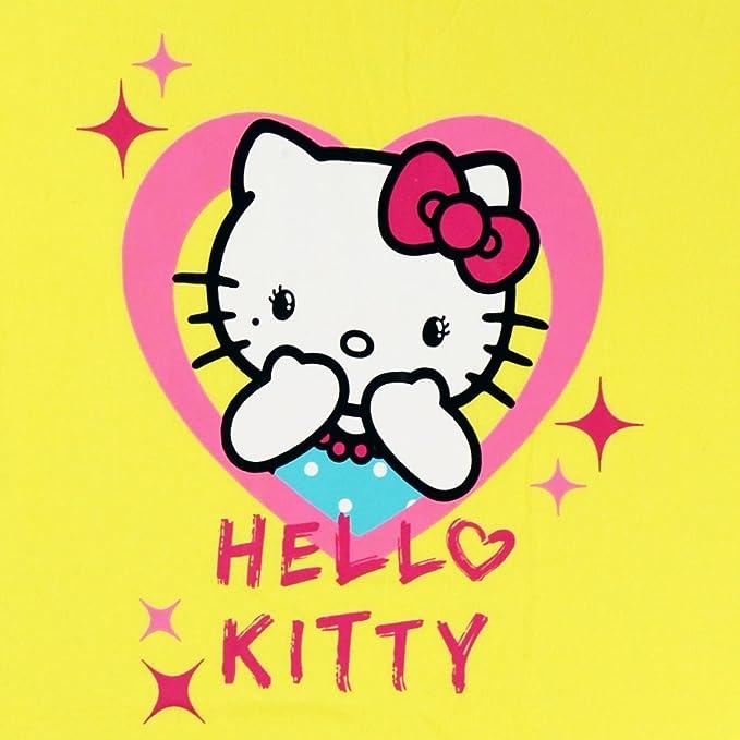 Hello Kitty Hello Kitty Mädchen Nachthemd Herz gelb (versch. Größen ...