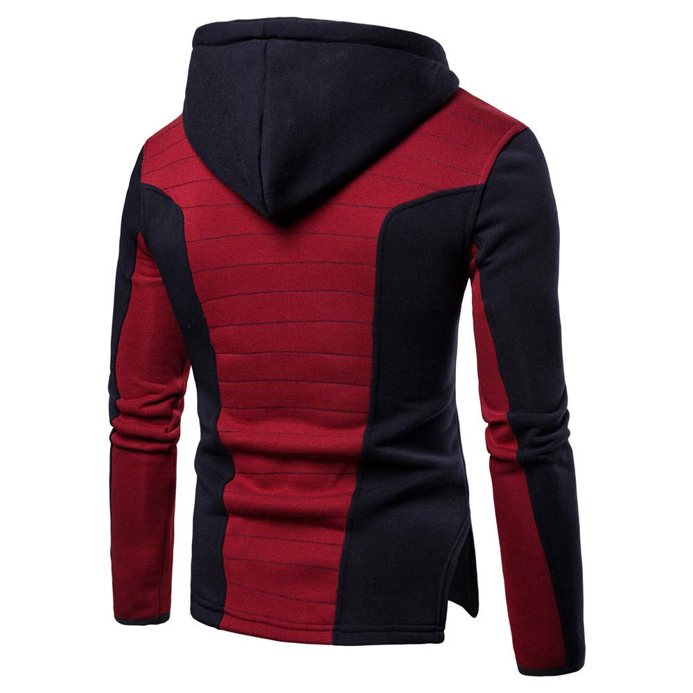 bcedafbc29f5a Amazon.com: Coohole Sweatshirt for Men, Mens Long Sleeve Splice Fold ...