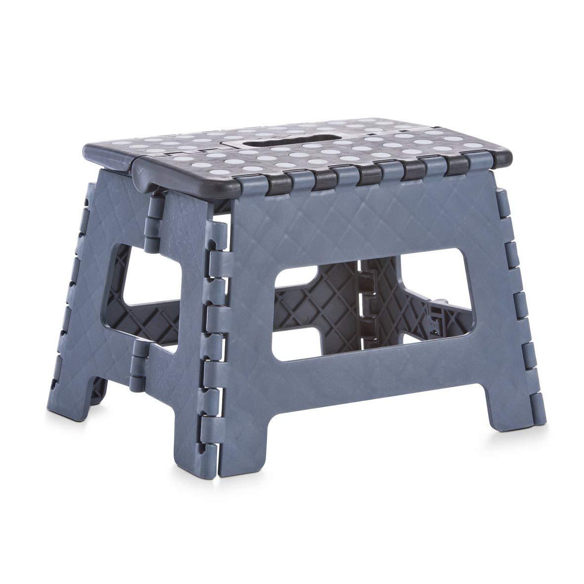 Zeller Klapphocker, Kunststoff, Maße: 32x25x22 cm, Grau