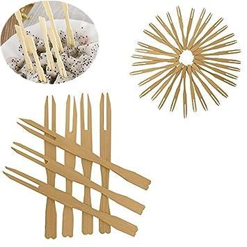coscosx 100 pcs tenedores de madera frutas palillos para aperitivos de madera palillos de incienso palillos
