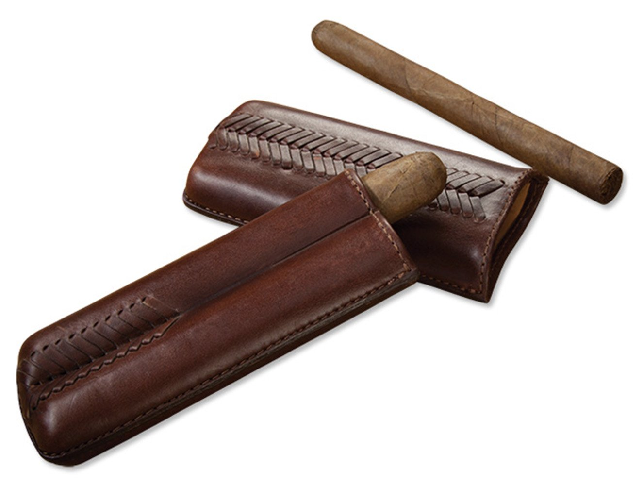 Orvis Leather Cigar Case, Brown