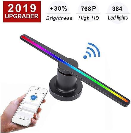 Amazon.com: WiFi 3D Holograma Publicidad LED Ventilador ...