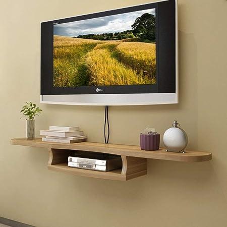 BNlyqj Estante Montado en la Pared Inalámbrico WiFi enrutador Televisor decodificador de Pared Decoraciones Interiores Corte Simple Mueble de Almacenamiento multifunción (Color : C, Size : 120cm): Amazon.es: Hogar