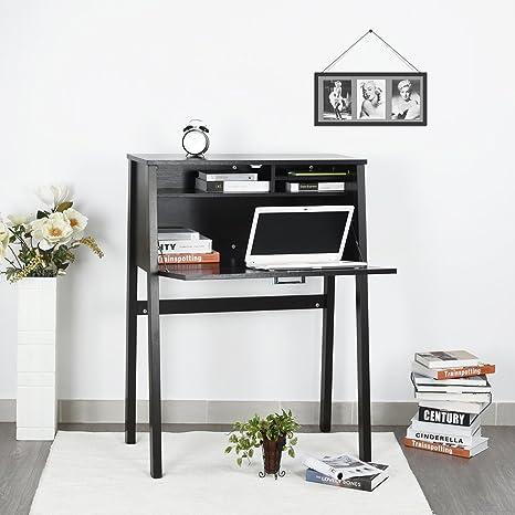 Aingoo consolle con un grande armadio scrivania per soggiorno, nero ...