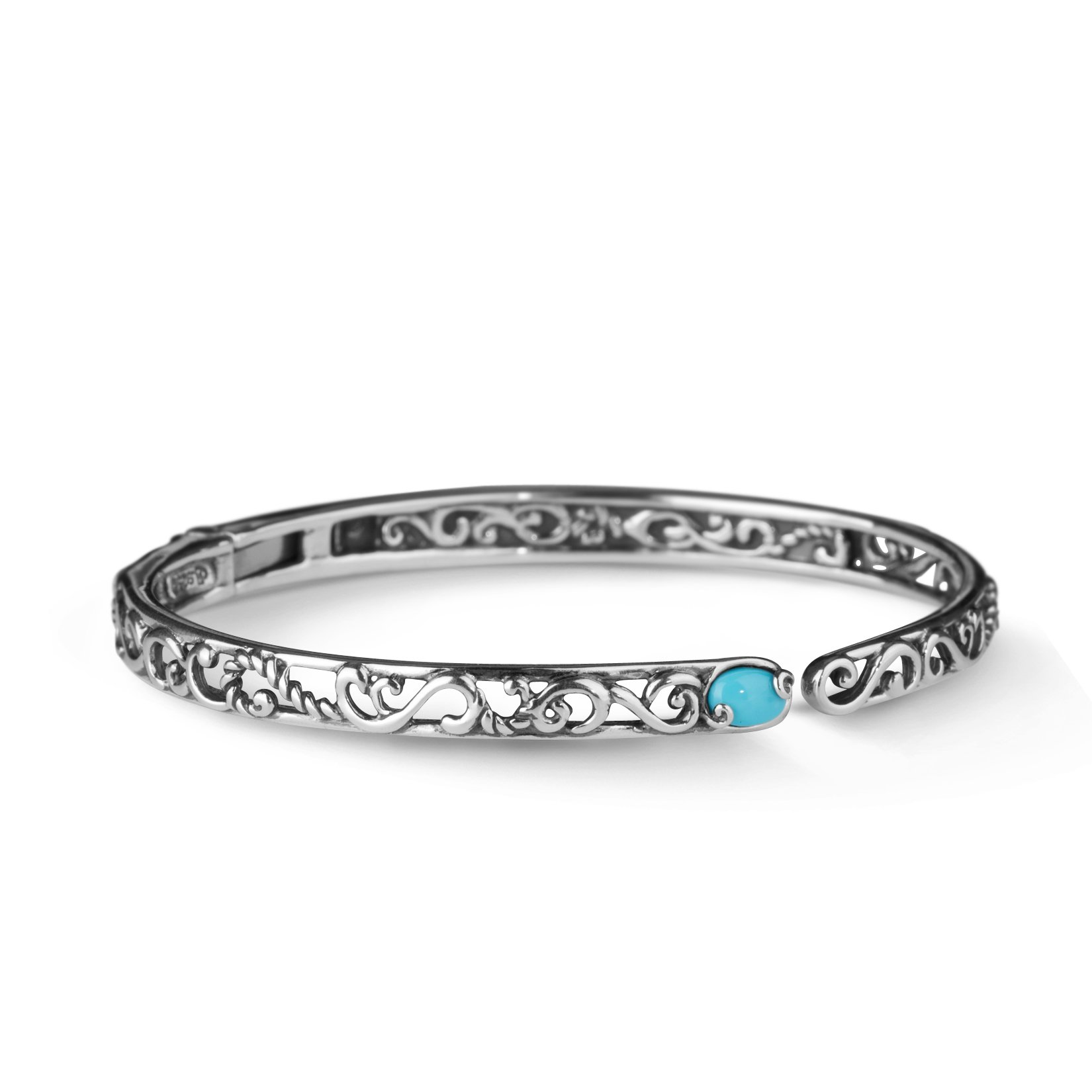 CP Signature Sleeping Beauty Turquoise Hinged Cuff Bracelet