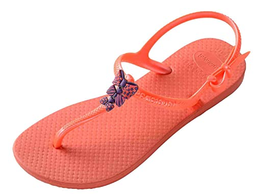 Havaianas Las Niñas Libertad de Chanclas, Color Naranja, Talla 30 EU Niño