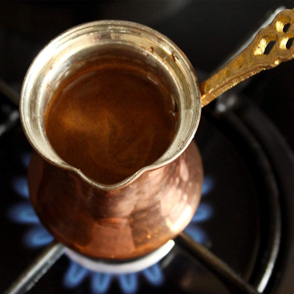 Cafetera turca de cobre 350 ml - 4 Cup cobre: Amazon.es: Hogar
