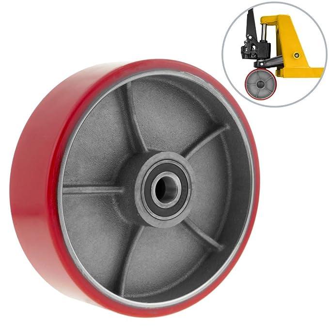 1 opinioni per PrimeMatik- Ruota per transpallet Rullo per pallet di poliuretano 180x50 mm 900